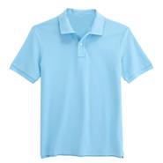 纯棉珠地网眼翻领T恤衫【浅蓝色】(批量现货供应,号码齐全)