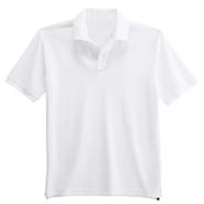 纯棉珠地网眼翻领T恤衫【纯白色】(批量现货供应,号码齐全)