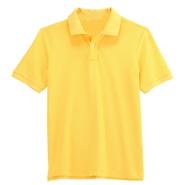 纯棉珠地网眼翻领T恤衫【黄色】(批量现货供应,号码齐全)