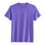 精梳棉系列文化衫【浅紫色】