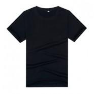 【2014新品】黑色莱卡棉精品文化衫(可印字或图案)