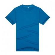 【2014新品】藏蓝色品质莱卡棉文化衫(可印字或图案)