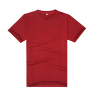 【2014新品】酒红色新款品质莱卡棉制作文化衫(可印字或图案)