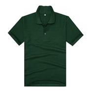 新品240gCVC军绿色珠地网眼棉翻领T恤衫(现货可印logo图案)