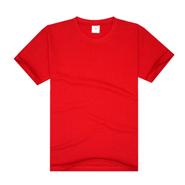 中国红经典纯棉圆领广告衫(现货可印图案、文字及logo)