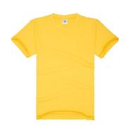 大黄色纯棉圆领广告衫系列(现货可印logo图案)