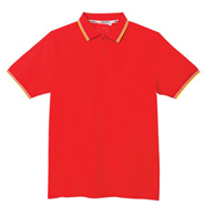 定制款经典红色撞色领设计POLO衫
